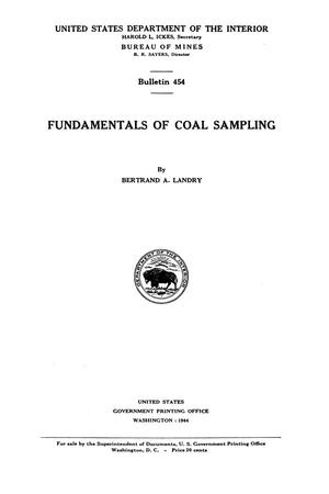 Primary view of object titled 'Fundamentals of Coal Sampling'.