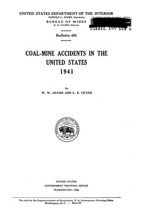 Primary view of object titled 'Coal-Mine Accidents in the United States, 1941'.