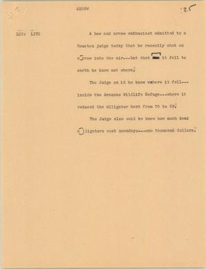 Primary view of object titled '[News Script: Arrow]'.