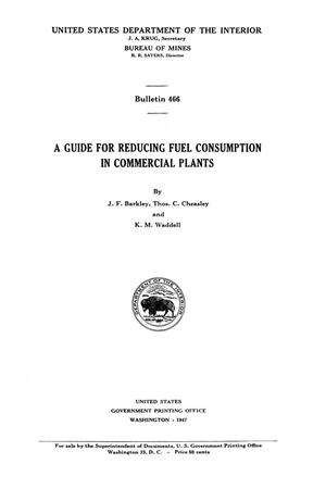 Primary view of object titled 'A Guide for Reducing Fuel Consumption in Commercial Plants'.