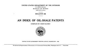 Primary view of object titled 'An Index of Shale-Oil Patents'.