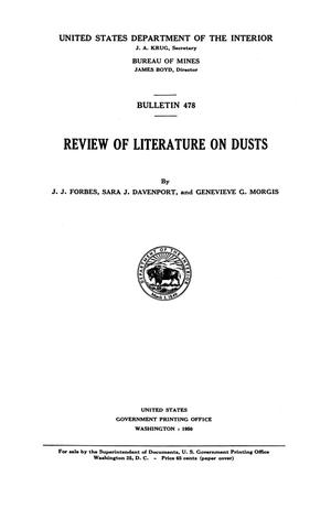 Primary view of object titled 'Review of Literature on Dusts'.