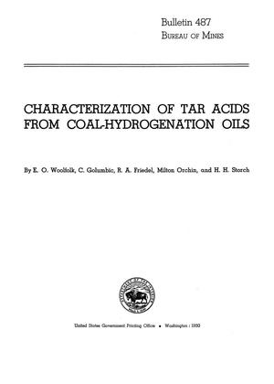 Primary view of object titled 'Characterization of Tar Acids from Coal-Hydrogenation Oils'.