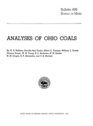 Primary view of object titled 'Analyses of Ohio Coals'.
