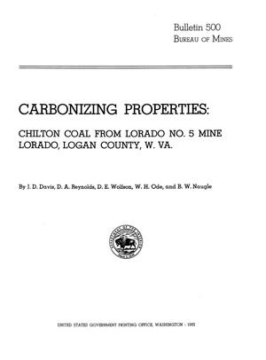 Primary view of object titled 'Carbonizing Properties: Chilton Coal from Lorado Number 5 Mine, Lorado, Logan County, West Virginia'.