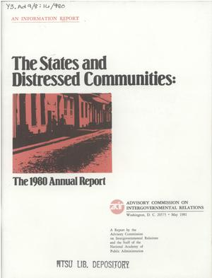 Primary view of object titled 'The 1980 Annual Report'.