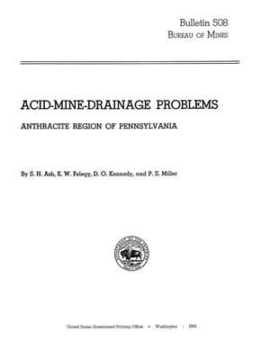 Primary view of object titled 'Acid-Mine-Drainage Problems: Anthracite Region of Pennsylvania'.