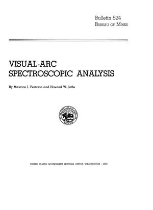 Primary view of object titled 'Visual-Arc Spectroscopic Analysis'.