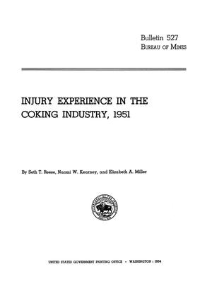Primary view of object titled 'Injury Experience in the Coking Industry, 1951'.