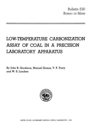 Primary view of object titled 'Low-Temperature Carbonization Assay of Coal in a Precision Laboratory Apparatus'.
