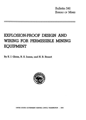 Primary view of object titled 'Explosion-Proof Design and Wiring for Permissible Mining Equipment'.