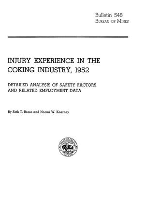Primary view of object titled 'Injury Experience in the Coking Industry, 1952: Detailed Analysis of Safety Factors and Related Employment Data'.