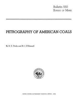 Primary view of object titled 'Petrography of American Coals'.