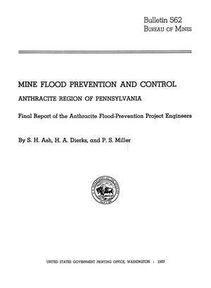 Primary view of object titled 'Mine Flood Prevention and Control: Anthracite Region of Pennsylvania, Final Report of the Anthracite Flood-Prevention Project Engineers'.