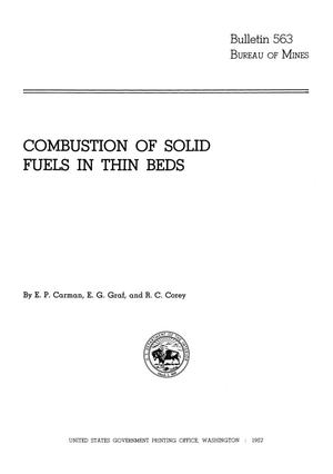 Primary view of object titled 'Combustion of Solid Fuels in Thin Beds'.
