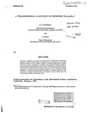 A two-dimensional ACAR study of untwinned YBa{sub 2}Cu{sub 3}O{sub 7-x}
