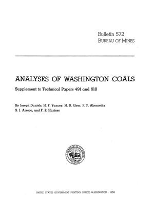 Primary view of object titled 'Analyses of Washington Coals: Supplement to Technical Papers 491 and 618'.
