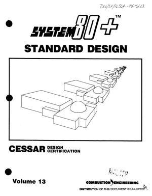 Primary view of System 80+{trademark} standard design: CESSAR design certification. Volume 13: Amendment I