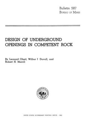 Primary view of object titled 'Design of Underground Openings in Competent Rock'.