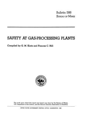 Primary view of object titled 'Safety at Gas-Processing Plants'.