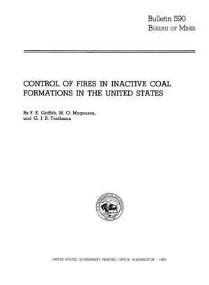 Control of Fires in Inactive Coal Formations in the United States