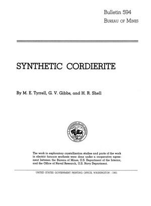 Primary view of object titled 'Synthetic Cordierite'.