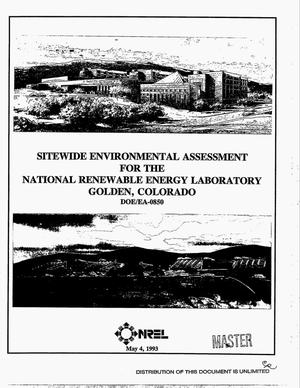 Primary view of object titled 'Sitewide Environmental Assessment for the National Renewable Energy Laboratory, Golden, Colorado'.
