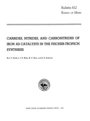 Primary view of object titled 'Carbides, Nitrides, and Carbonitrides of Iron as Catalysts in the Fischer-Tropsch Synthesis'.