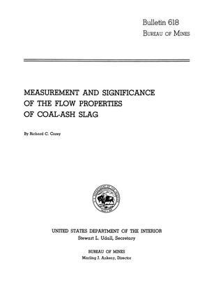 Primary view of object titled 'Measurement and Significance of the Flow Properties of Coal-Ash Slag'.