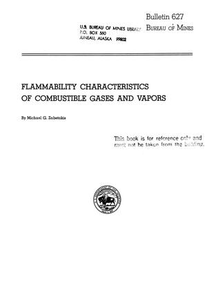 Primary view of object titled 'Flammability Characteristics of Combustible Gases and Vapors'.