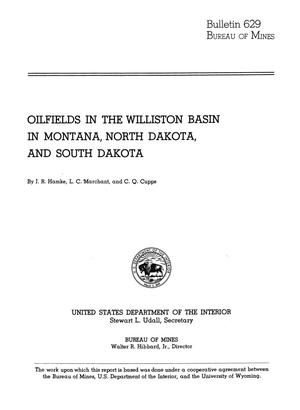 Primary view of object titled 'Oilfields in the Williston Basin in Montana, North Dakota, and South Dakota'.