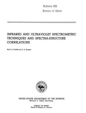 Primary view of object titled 'Infrared and Ultraviolet Spectrometric Techniques and Spectra-Structure Correlations'.