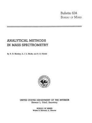 Primary view of object titled 'Analytical Methods in Mass Spectrometry'.