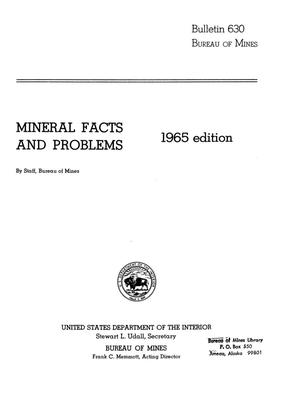 Primary view of object titled 'Mineral Facts and Problems: 1965 Edition'.