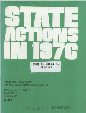 Primary view of object titled 'State actions in 1976'.