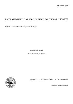 Primary view of object titled 'Entrainment Carbonization of Texas Lignite'.