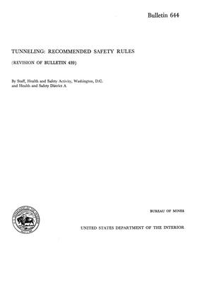 Tunneling: Recommended Safety Rules