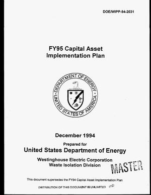 Primary view of object titled 'FY95 Capital Asset Implementation Plan'.