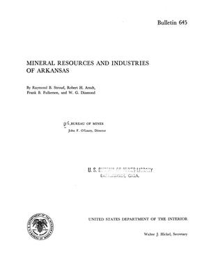 Primary view of object titled 'Mineral Resources and Industries of Arkansas'.