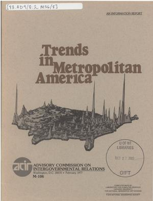 Primary view of object titled 'Trends in metropolitan America'.