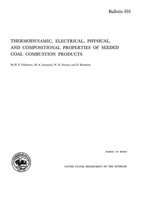 Primary view of object titled 'Thermodynamic, Electrical, Physical, and Compositional Properties of Seeded Coal Combustion Products'.