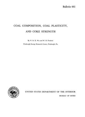 Primary view of object titled 'Coal Composition, Coal Plasticity, and Coke Strength'.