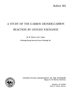 Primary view of object titled 'A Study of the Carbon Dioxide-Carbon Reaction by Oxygen Exchange'.