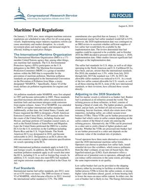 Primary view of object titled 'Maritime Fuel Regulations'.