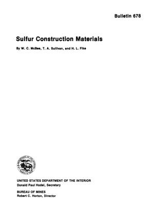 Primary view of object titled 'Sulfur Construction Materials'.