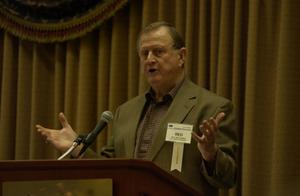 "Primary view of object titled '[Billy Joe ""Red"" McCombs guest speaking at TDNA conference, 3]'."