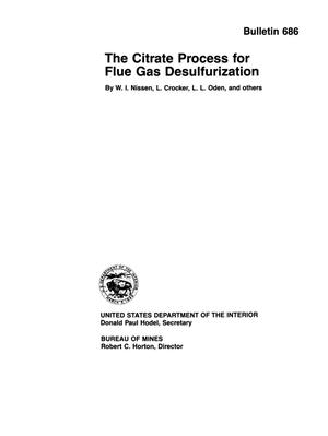 Primary view of object titled 'The Citrate Process for Flue Gas Desulfurization'.