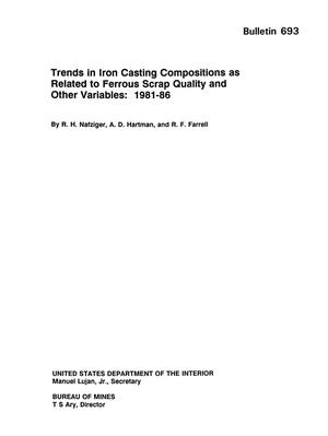 Trends in Iron Casting Compositions as Related to Ferrous Scrap Quality and Other Variables: 1981-86