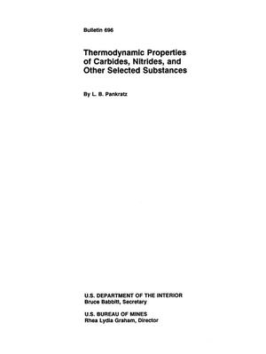 Thermodynamic Properties of Carbides, Nitrides, and Other Selected Substances