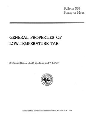 Primary view of object titled 'General Properties of Low-Temperature Tar'.